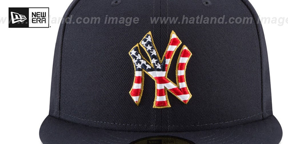 detailed look 90fef 0f43d ... sale new era. yankees 2018 july 4th stars n stripes navy fitted hat by  e4bb8