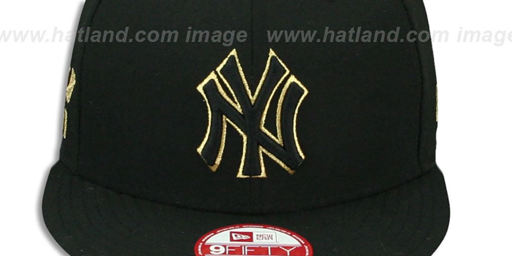 Yankees 'CHAMPS-HASH SNAPBACK' Black Hat by New Era