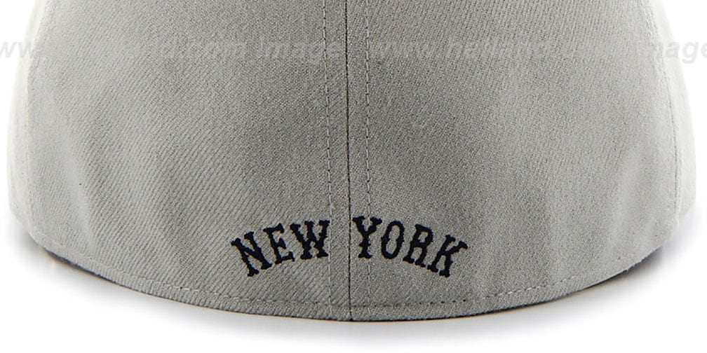 Yankees 'COOP HOLE-SHOT' Grey-Navy Fitted Hat by Twins 47 Brand
