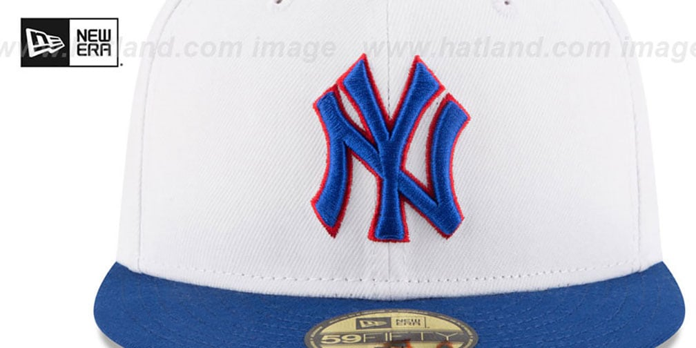 fc265c2517a ... usa yankees country colors white royal fitted hat by new era 2e3ae b2a92
