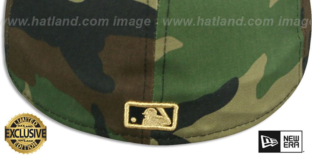 Yankees 'GOLD METAL-BADGE' Army Camo Fitted Hat by New Era