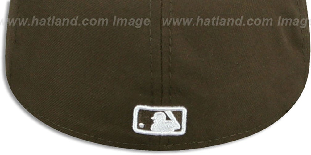 Yankees 'TEAM-BASIC' Brown-White Fitted Hat by New Era