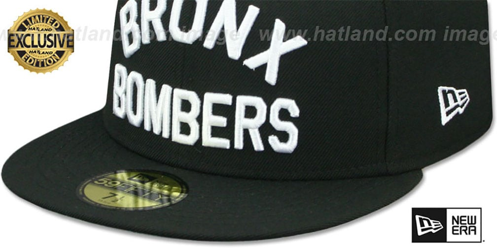 Yankees 'BRONX BOMBERS' Black Fitted Hat by New Era