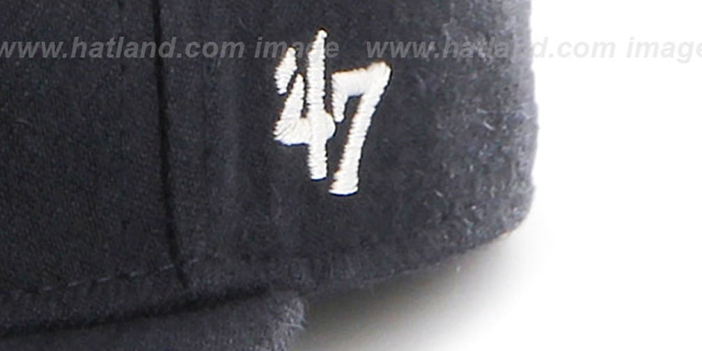Yankees 'COOP HOLE-SHOT' Navy Fitted Hat by Twins 47 Brand