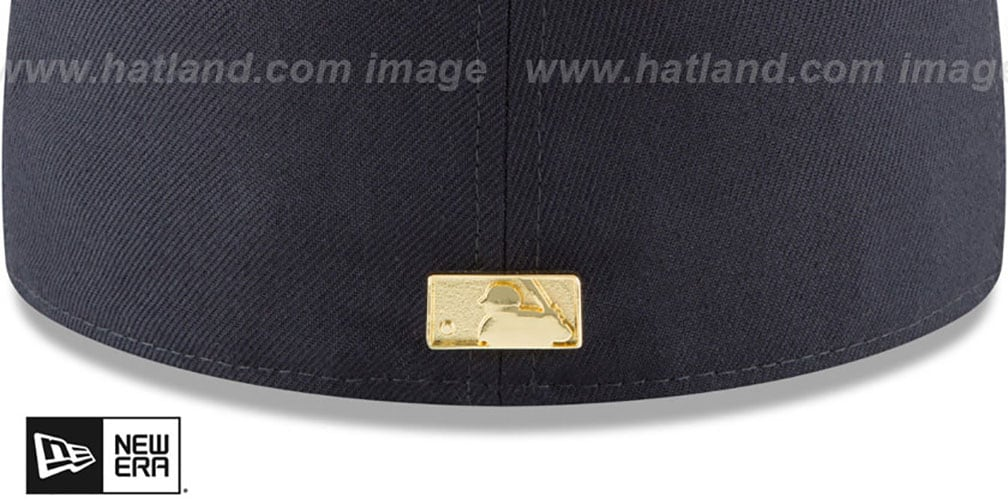 Yankees 'GOLDEN-BADGE' Navy-Grey Fitted Hat by New Era