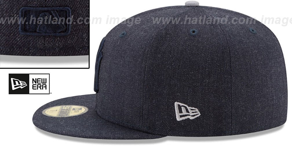 Yankees 'JUMBO HEATHER' Navy Fitted Hat by New Era