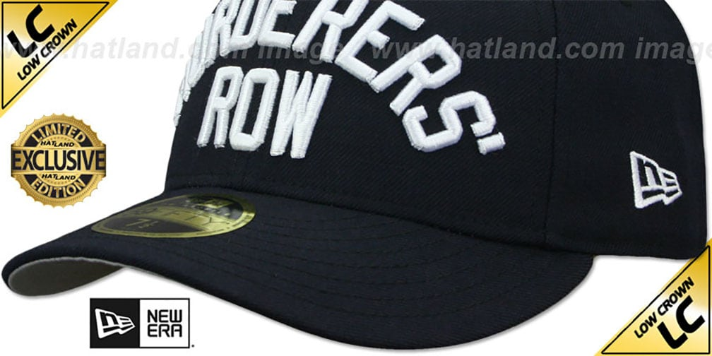 Yankees LOW-CROWN 'MURDERERS ROW' Navy Fitted Hat by New Era