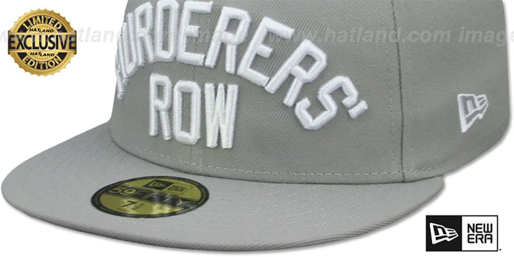 Yankees 'MURDERERS ROW' Light Grey Fitted Hat by New Era