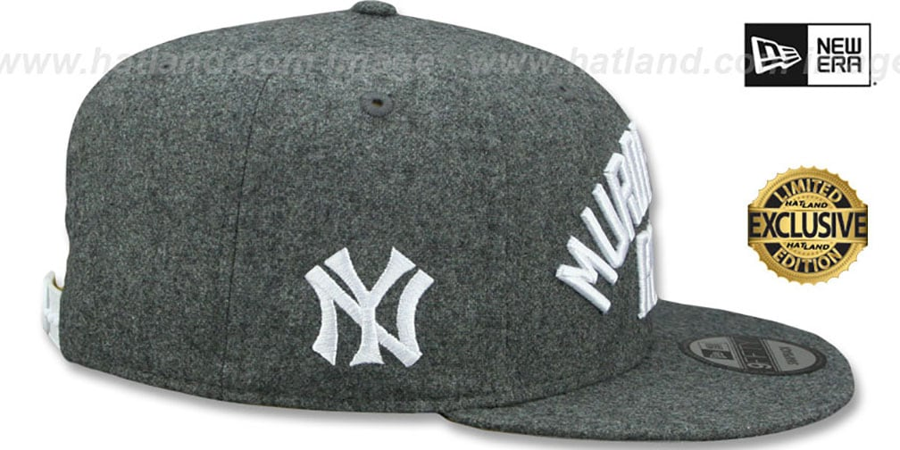 Yankees 'MURDERERS ROW' SNAPBACK Melton Grey Hat by New Era