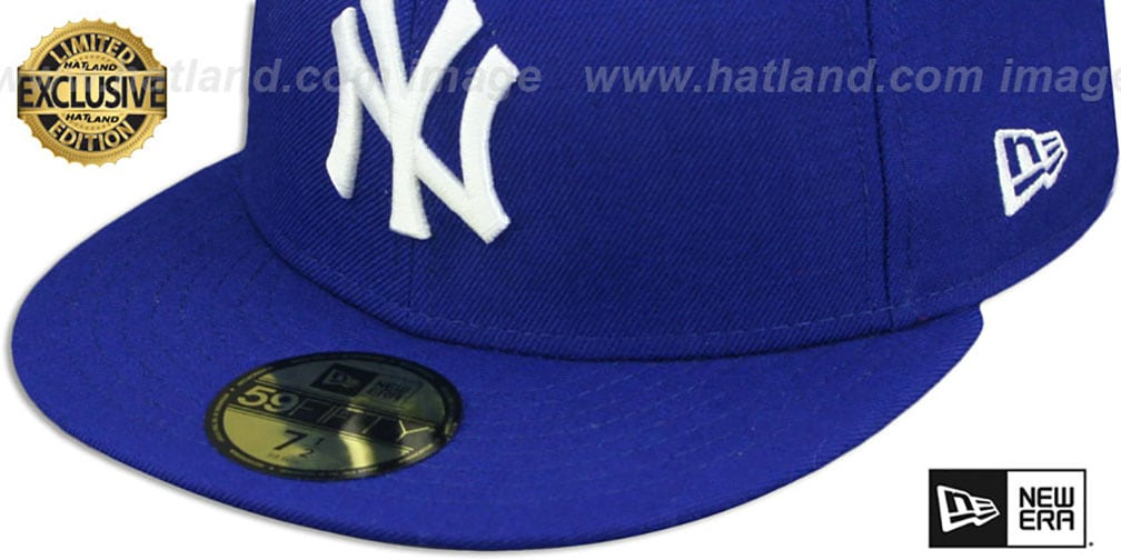 Yankees 'TEAM-BASIC' Royal-White Fitted Hat by New Era