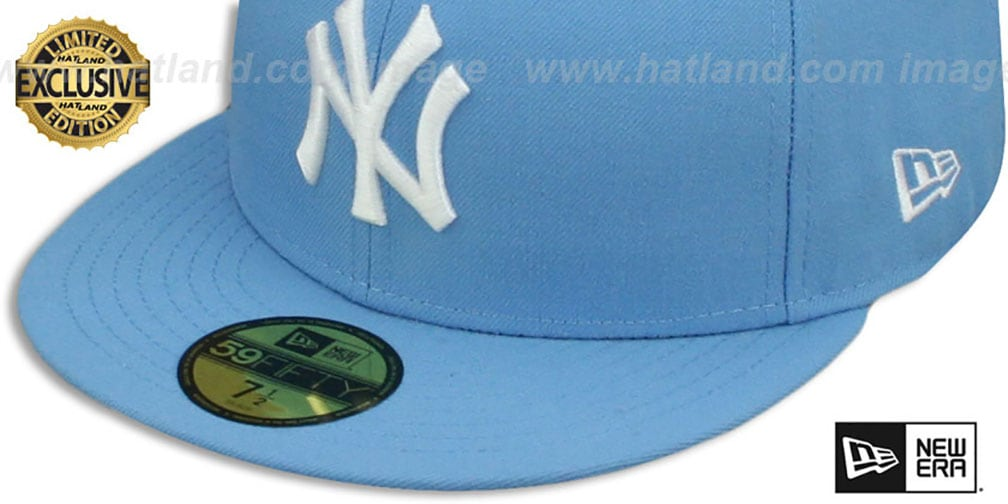 35ebf5542fe ... top quality yankees team basic sky white fitted hat by new era 8e65a  b6bc8 ireland new york ...