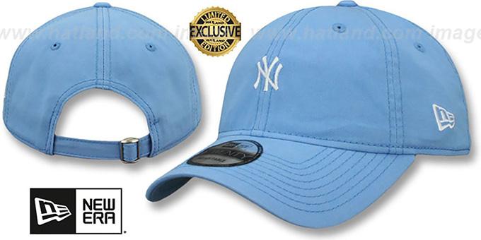 d8043e026bf YankeesHats.com - New York Yankees Hats - Yankees  MINI BEACHIN STRAPBACK   Light Blue Hat by New Era