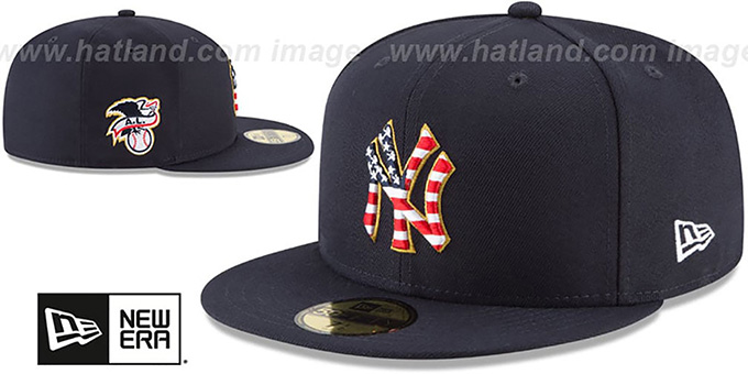 1a8c59d21485e YankeesHats.com - New York Yankees Hats - Yankees  2018 JULY 4TH STARS N  STRIPES  Navy Fitted Hat by New Era