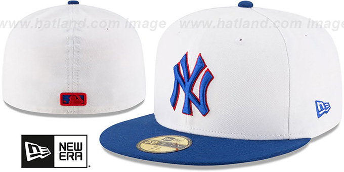 59580785c71 ... sale yankeeshats new york yankees hats yankees country colors white  royal fitted hat by new era