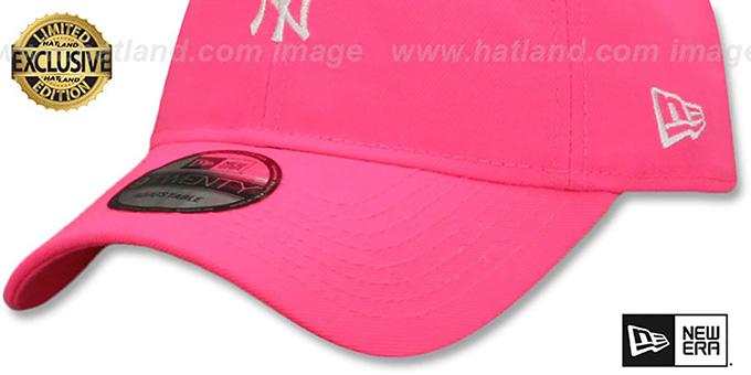 1f9bb35e097 YankeesHats.com - New York Yankees Hats - Yankees  MINI BEACHIN STRAPBACK   Neon Pink Hat by New Era