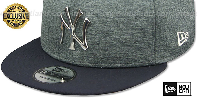 f74ad54e4ac YankeesHats.com - New York Yankees Hats - Yankees  SILVER METAL-BADGE  SNAPBACK  Shadow Tech-Navy Hat by New Era