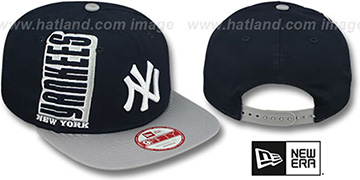 Yankees 'RALLYMARK SNAPBACK' Navy-Grey Hat by New Era