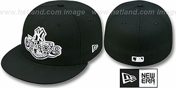 Yankees 2009 'CHAMPIONS CREST' Black Hat by New Era