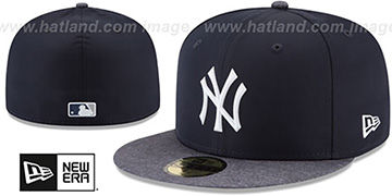 Yankees '2018 PROLIGHT-BP' ROAD Navy-Grey Fitted Hat by New Era