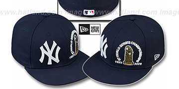 Yankees '27 CHAMPIONSHIPS TROPHY' Navy Fitted Hat by New Era