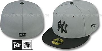 Yankees '2T TEAM-BASIC' Grey-Black Fitted Hat by New Era