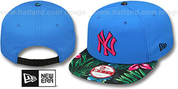 Yankees 'AMAZON BLOOM SNAPBACK' Blue-Multi Hat by New Era