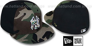 Yankees 'ARMY CAMO THERMAL PW' Army-Black Fitted Hat by New Era