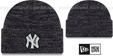 Yankees 'BEVEL' Navy-Grey Knit Beanie Hat by New Era