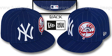 Yankees 'BIG-ONE DOUBLE WHAMMY' Navy-White Fitted Hat