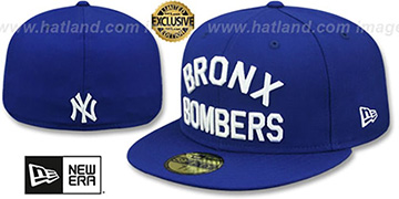 Yankees 'BRONX BOMBERS' Royal Fitted Hat by New Era