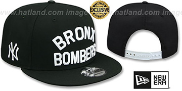 Yankees 'BRONX BOMBERS' SNAPBACK Black Hat by New Era