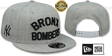 Yankees 'BRONX BOMBERS' SNAPBACK Heather Light Grey Hat by New Era