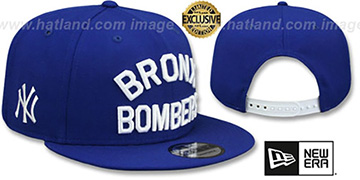Yankees 'BRONX BOMBERS SNAPBACK' Royal Hat by New Era