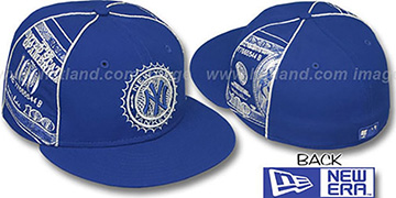 Yankees 'C-NOTE' Royal-Silver Fitted Hat by New Era