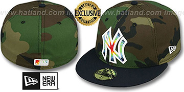 Yankees 'CAMO TYE-DYE INSIDER' Army-Navy Fitted Hat by New Era