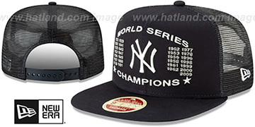 Yankees 'CHAMPIONS TRUCKER SNAPBACK' Navy Hat by New Era