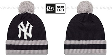 Yankees 'CHILLER FILLER BEANIE' Navy-Grey by New Era