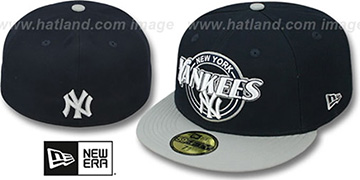 Yankees 'CIRCLE-CLOSER' Navy-Grey Fitted Hat by New Era