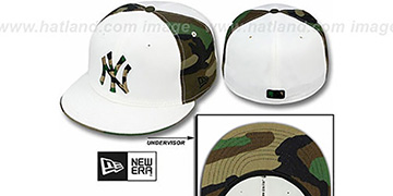 Yankees 'COLOR BLOCK' White-Army Camo Fitted Hat by New Era