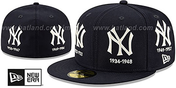 Yankees 'COOPERSTOWN EVOLUTION-2' Navy Fitted Hat by New Era