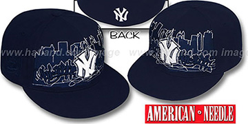 Yankees 'COOPERSTOWN SKYLINE' Navy Fitted Hat by American Needle