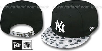 Yankees 'DALMATION ANIMALISTIC-FUR VIZA STRAPBACK' Hat by New Era