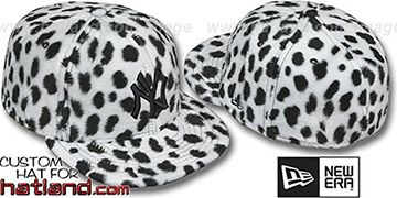 Yankees 'DALMATION PIMPIN-FUR' White Fitted Hat by New Era
