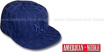 Yankees 'DICE ALL-OVER' Navyout Fitted Hat by American Needle