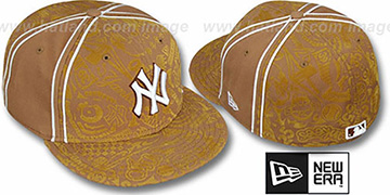 Yankees 'DUAL-PIPED INKED' Wheat Fitted Hat by New Era