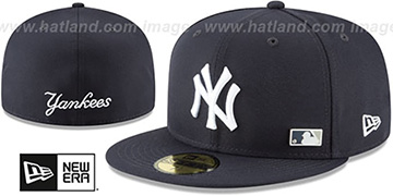 Yankees 'FLAWLESS PINNED-UP' Navy Fitted Hat by New Era
