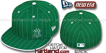 Yankees 'FLAWLESS PINSTRIPE' Kelly-White Fitted Hat by New Era
