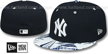 Yankees 'GEOMET TRICK' Navy Fitted Hat by New Era