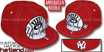 Yankees 'GETTIN BIG' Red-White Fitted Hat by American Needle