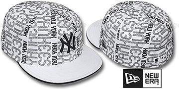 Yankees 'GOOD TIMES ALL-OVER' White-Black Fitted Hat by New Era